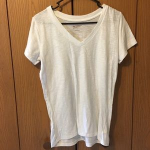 3/$20 Arizona White V Neck Top
